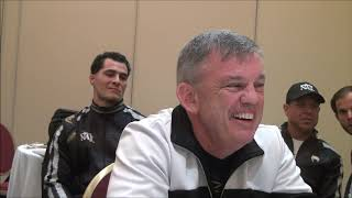Oleksandr Gvozdyk and Teddy Atlas Media roundtable before Beterbiev fight