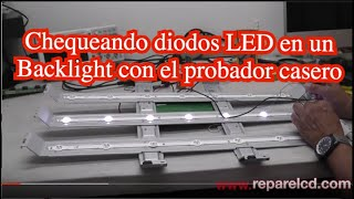 Comprobando diodos LED en un Backlight