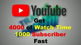 #TechnicalHamzaKhan  How To Get 4000 Hours Watch And 1,000 Subscibers Tips
