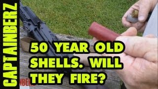 50 Year Old Shotgun Paper Shells..Will They Fire?