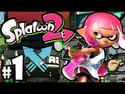 Splatoon 2 PART 1 - Nintendo Switch Gameplay Walkthrough - New Inkling, Pearl & Marina, Turf Wars