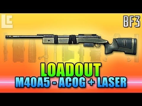 Loadout - M40A5, ACOG & M1911 (Battlefield 3 Gameplay/Commentary/Review)