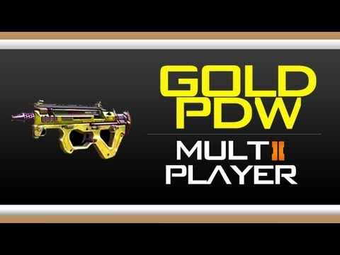 Black Ops 2 GOLD PDW Camo Gameplay - How to get Gold PDW Camo