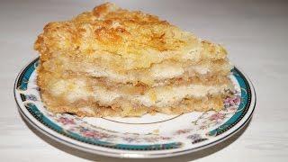 Очень простой насыпной пирог с яблоками.Пирог.