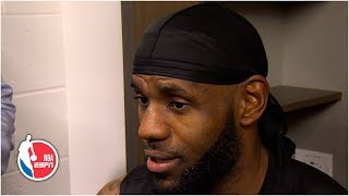LeBron jokes he can't play with Bronny in NBA after the way his body feels postgame | NBA on ESPN