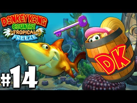 Donkey Kong Country Tropical Freeze Co-Op Shark Snack PART 14 (Wii U HD Gameplay Walkthrough Coop)