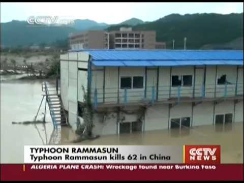 Typhoon Rammasun kills 62 in China