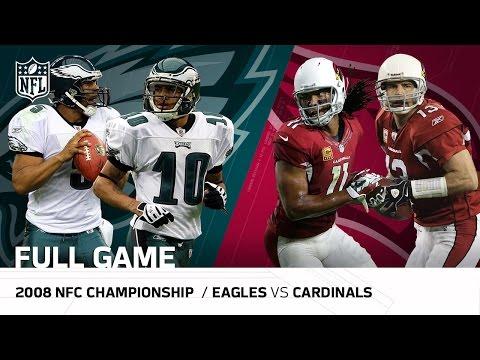 2008 Nfc Championship Game Eagles Vs Cardinals Larry Fitzgerald S
