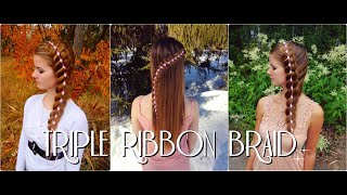 TRIPLE RIBBON BRAID | How to Braid DIY