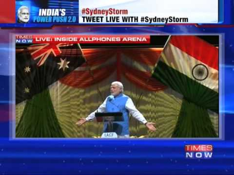 Narendra Modi's speech at Sydney's Allphones Arena - Full Speech