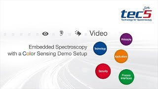 Embedded Spectroscopy with a Color Sensing Demo Setup