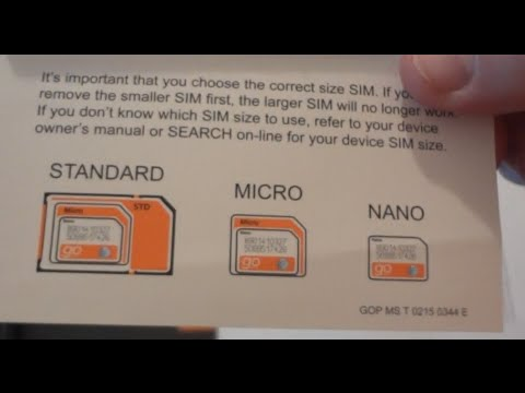 How to trim Cut out SIM Card for PrePaid AT&T GOPhone (Smartphone Tablet  Nano Micro insert Samsung)