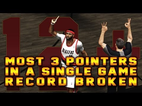 NBA 2K13 MyCAREER - IpodKingCarter Breaks Most 3 Pointers Made In A Single Game Record With 12+