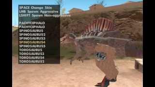 GTA San Andreas mod Dinosaur Skin Selector2