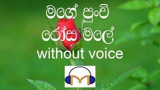 Mage Punchi Rosa Male Karaoke (without voice) මගේ පුංචි රෝස මලේ