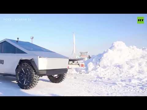 Russian homemade Tesla Cybertruck hits the road
