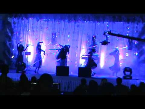 Wedding Dhamaka. Kids Dancing On Popular Bollywood  Songs On A Fancy Wedding Stage. video