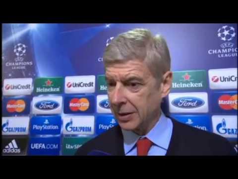 Bayern Munich 1-1 Arsenal - Arsene Wenger Interview 11/03/14