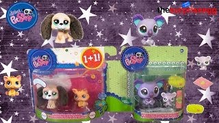 LITTLEST PET SHOP Cutest Pets Beagle and Cat, Mommy Koala and Baby Koala unboxing