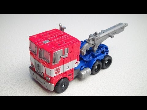 TRANSFORMERS 4 EVASION MODE OPTIMUS PRIME VOYAGER AGE OF EXTINCTION VIDEO TOY REVIEW