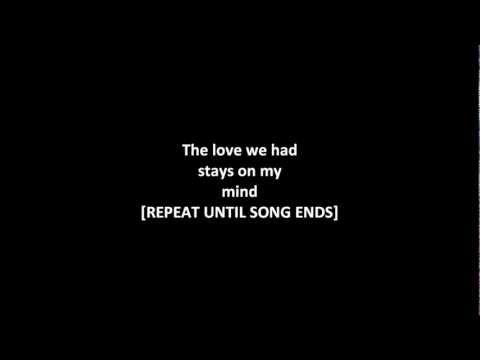 Dru hill-The love we had stay's on my mind (with lyrics on screen)! HD