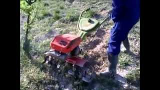 Arrancando motoazada agria 3001