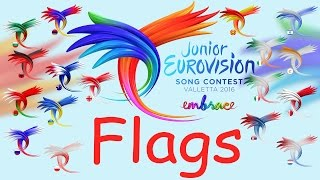 Junior Eurovision 2016 - Updated New Flags - Download!!!