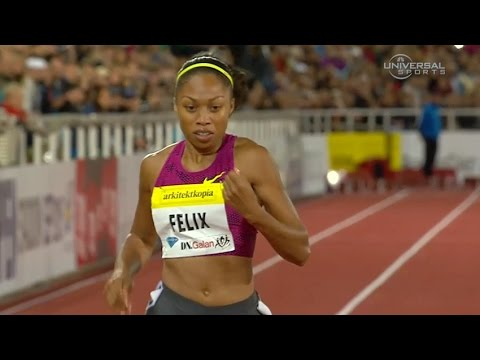 Allyson Felix wins 200m in Stockholm - Universal Sports
