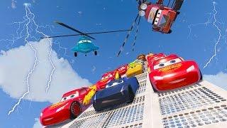 Cars 3 Colors Jackson Storm Lightning McQueen 8X8 Monster Cruz Ramirez Tow Mater Mack Truck Dinoco