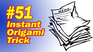 Instant Origami Magic Trick - Easy To Do - Paper Magic Tutorial - Perform Today