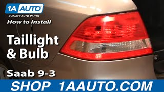 How to Install Replace Taillight and Bulb Saab 9-3 1AAuto.com