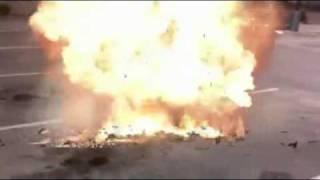 منفجر کردن ماشین پسر جوان ایرانی