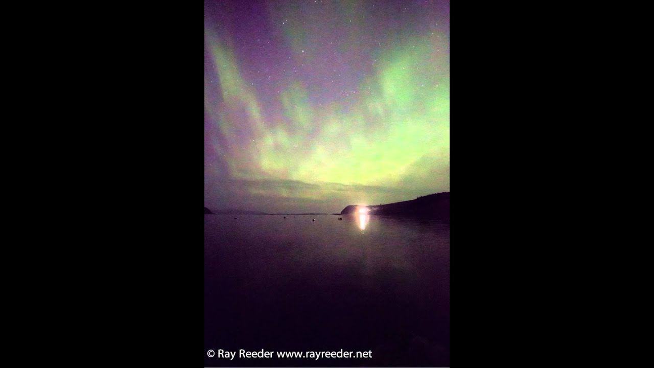 Northern Lights Skye Northern Lights Over Loch Bay
