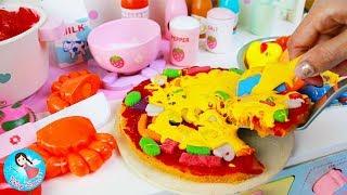 คุณแม่กับข้าว ตอน พิซซ่าหน้าซีฟู้ด ของเล่นเครื่องครัว ตุ๊กตาเมลจัง คองซูนิ ของเล่นPlay Doh