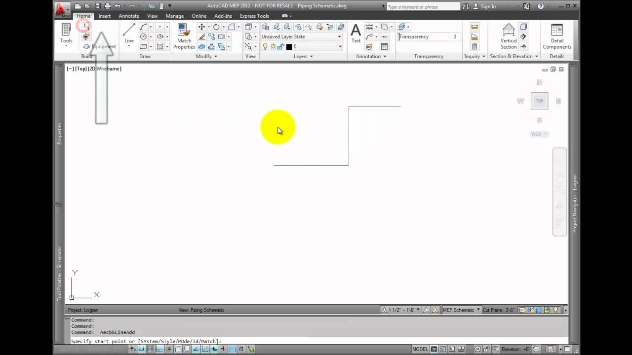 AutoCAD MEP 2012 Tutorial - Adding Schematic Lines - YouTube