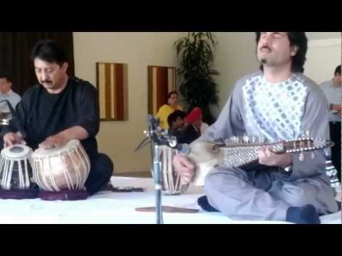 Ustad Homayoun Sakhi Playing A Classical Composition In Teentaal video