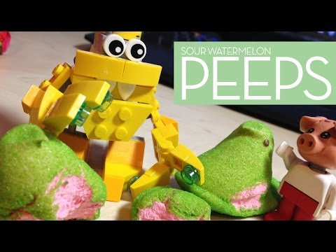 Snacktaku Tries Sour Watermelon Peeps