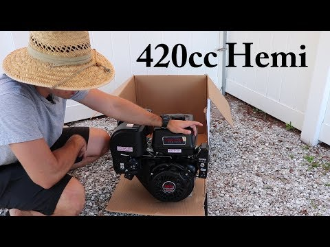 Predator 420cc Hemi Engine Unboxing - Harbor Freight Honda Clone