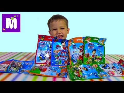 Щенячий патруль пакетики с игрушкой сюрприз распаковка Paw Patrol surprise blind bags with toys