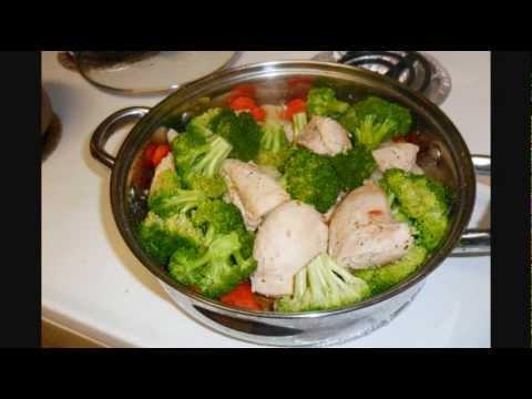 Receta de Pollo con verduras al vapor