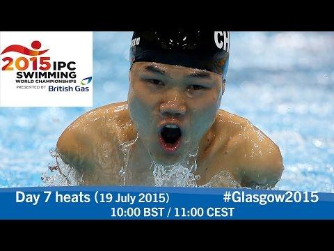 Day 7 heats | 2015 IPC Swimming World Championships, Glasgow