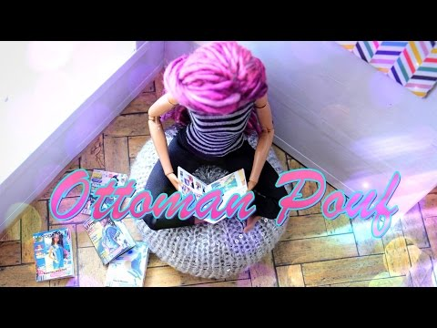 DIY - How to Make:  Doll Ottoman Pouf - EASY - Handmade - Crafts