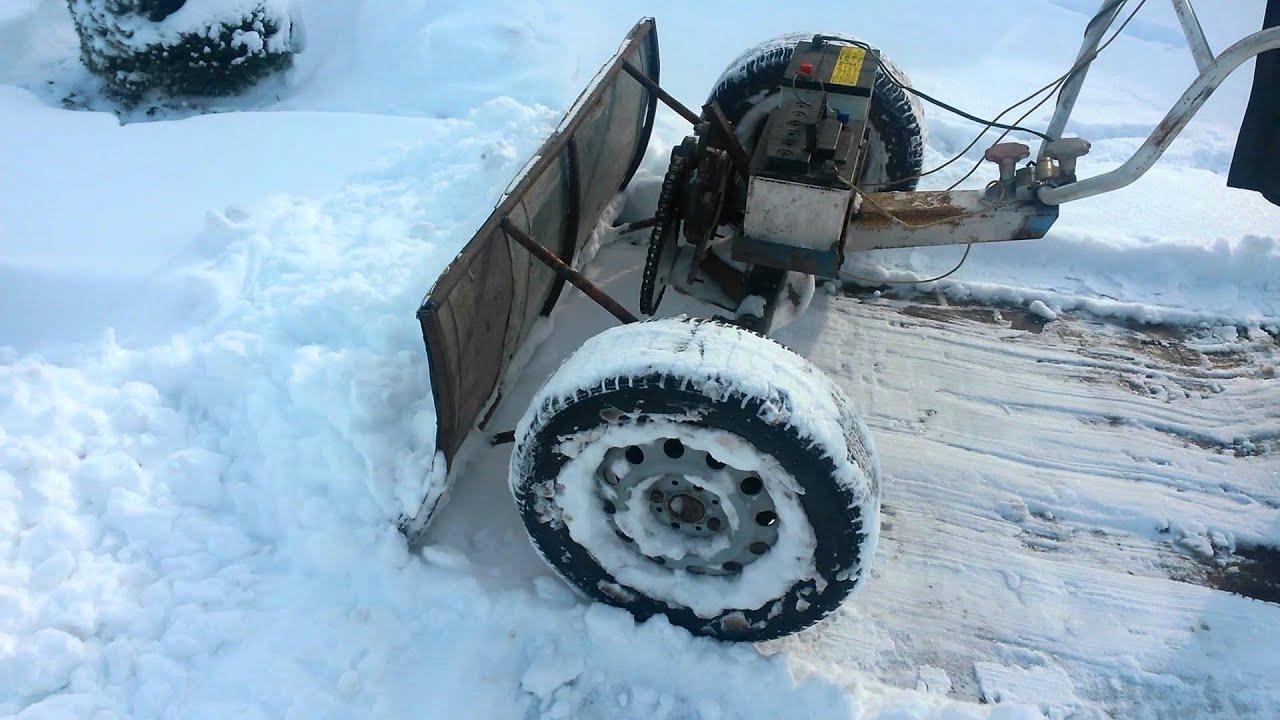 Самодельная электролопата для уборки снега своими руками 14