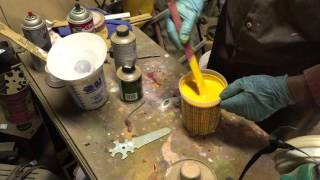 cub cadet 122 refurbished part 6- mixing the majic paint