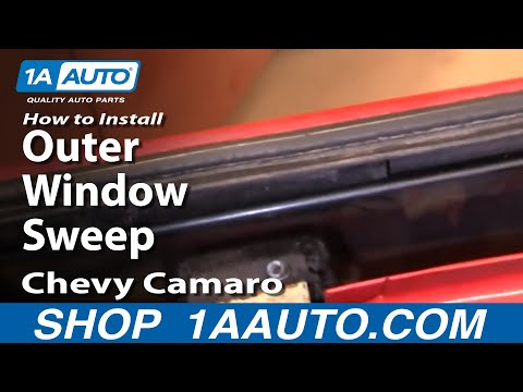 How To Install Remove Outer Window Sweep 82-92 Chevy Camaro IROC-Z and Pontiac T