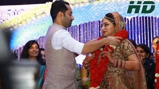 Fahadh Faasil-Nazriya Nazim Exchange Wedding 2014