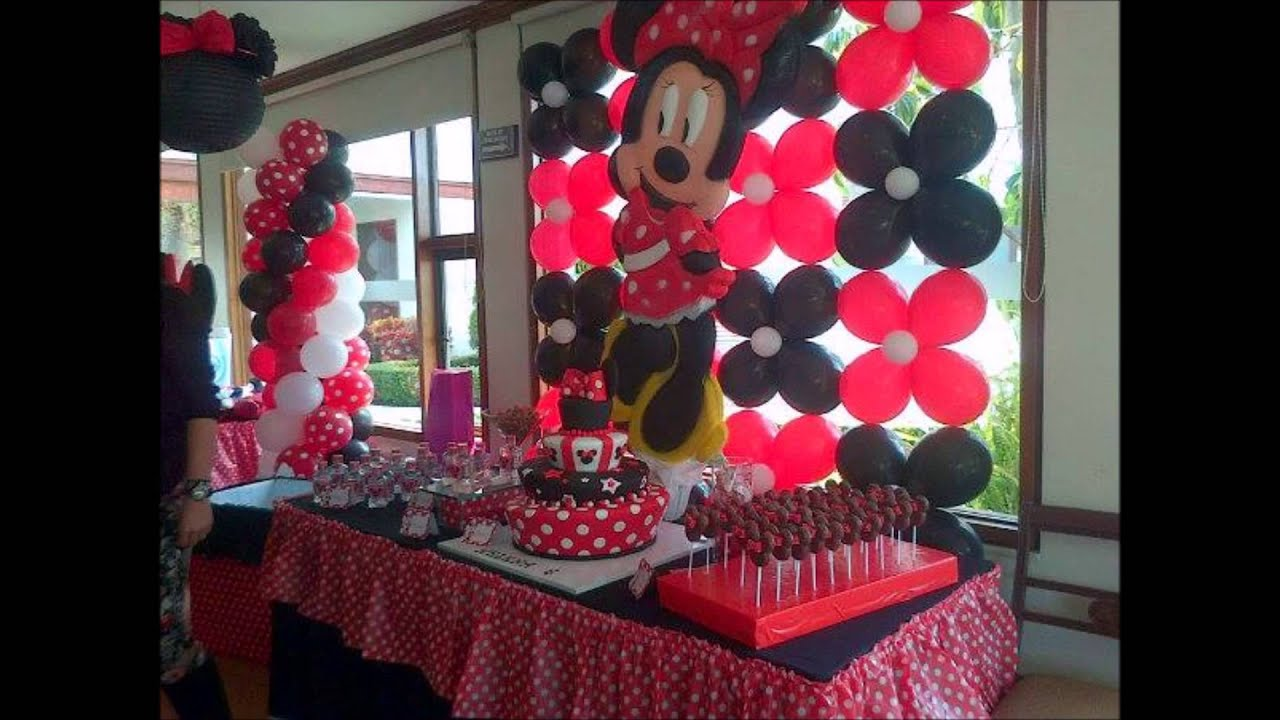 Minnie decoraciones para fiestas for Decoracion de adornos