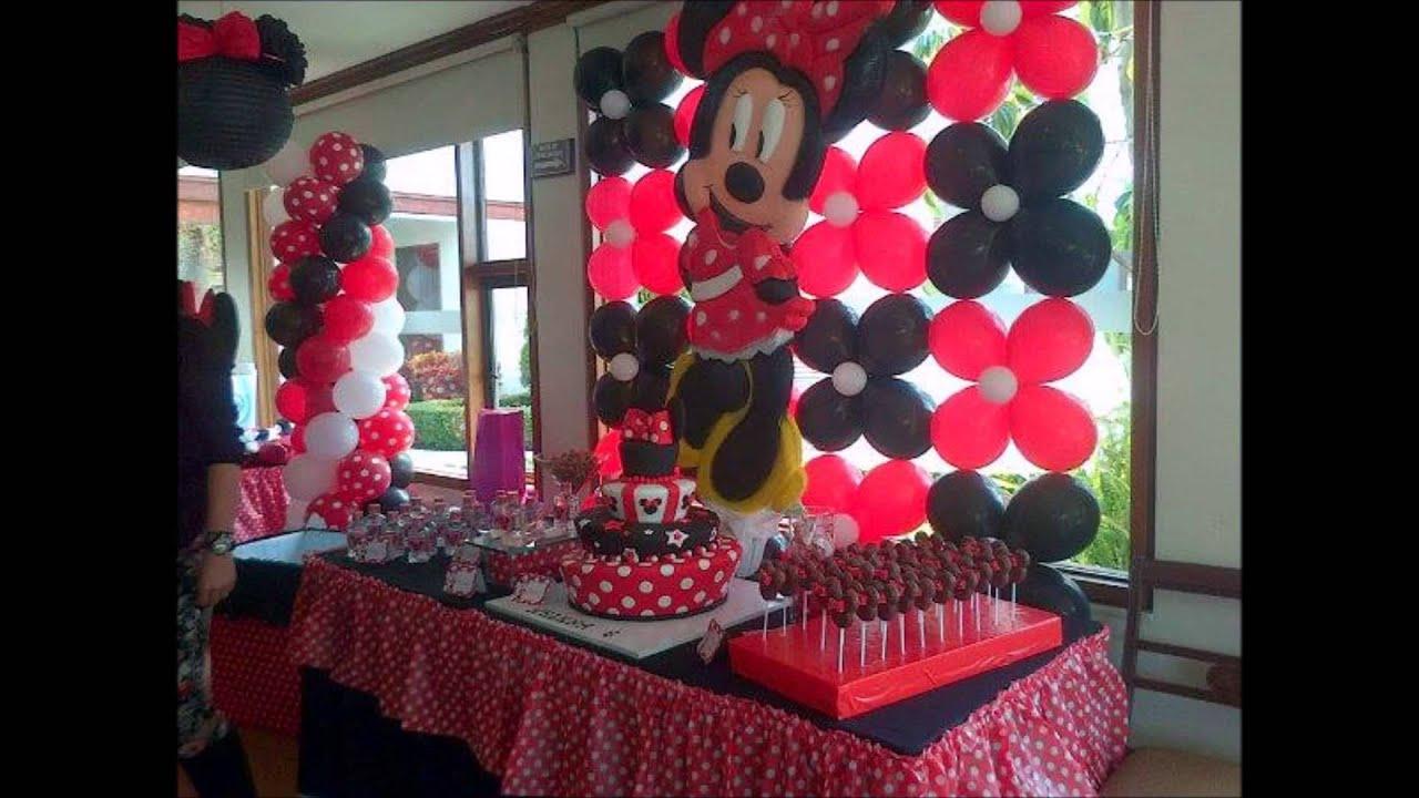 Minnie decoraciones para fiestas for Decoracion para pared infantil