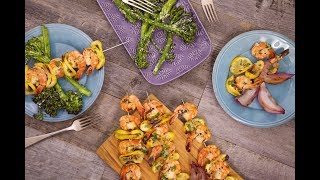 Summer Recipes: Shrimp Scampi Skewers & Grilled Peaches