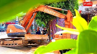 Excavator Destroys House | Amazing Excavator at Work | Song for Kids in VietNam